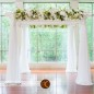 Wedding Ceremony, Wedding Flowers, Chuppah, White Chuppah